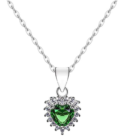 Coupon 50% collana cuore zircone smeraldo